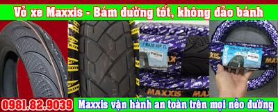 Bảng giá vỏ xe máy không ruột IRC, MAXXIS, Euromina cho một số dòng xe