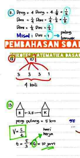 Soal Psikotes Matematika : psikotes, matematika, Psikotes, Matematika, Dasar, Menjawabnya, Contoh, Kerja