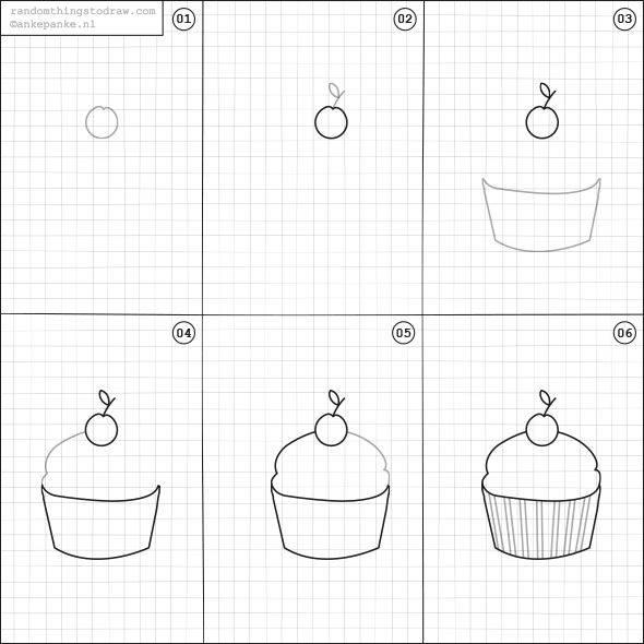 Cara Mudah Menggambar Kue Untuk Anak-Anak