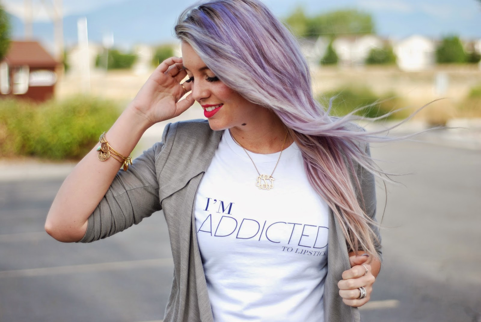 I'm Addicted To Lipstick Shirt, Utah Fashion Blogger