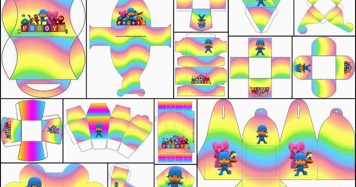Pocoyo With Rainbow Free Printable Boxes