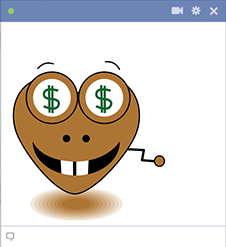 Money heart FB sticker