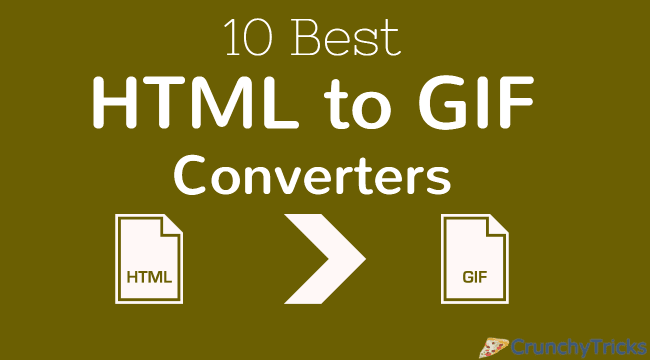 HTML to GIF Converters