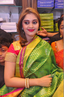 Surabhi looks stunning in Saree at Nakshatra Fashion Store Launch at Suchitra X Road 15.JPG