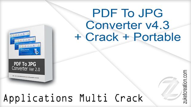 PDF To JPG Converter v4.3 + Crack + Portable