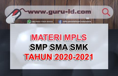 GAMBAR MATERI MPLS SMP SMA SMK 2020