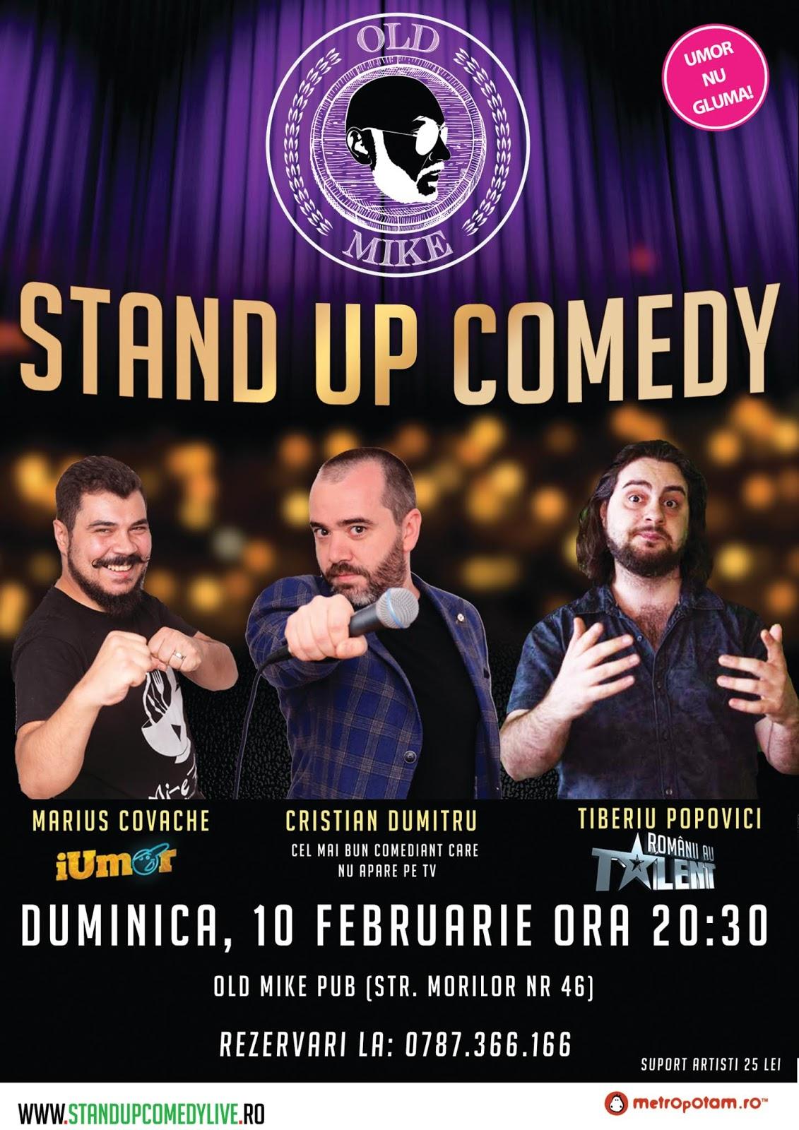 Stand-Up Comedy Bucuresti Duminica 10 Februarie 2019