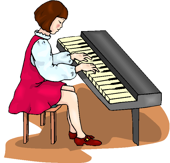 clipart girl playing piano - photo #2