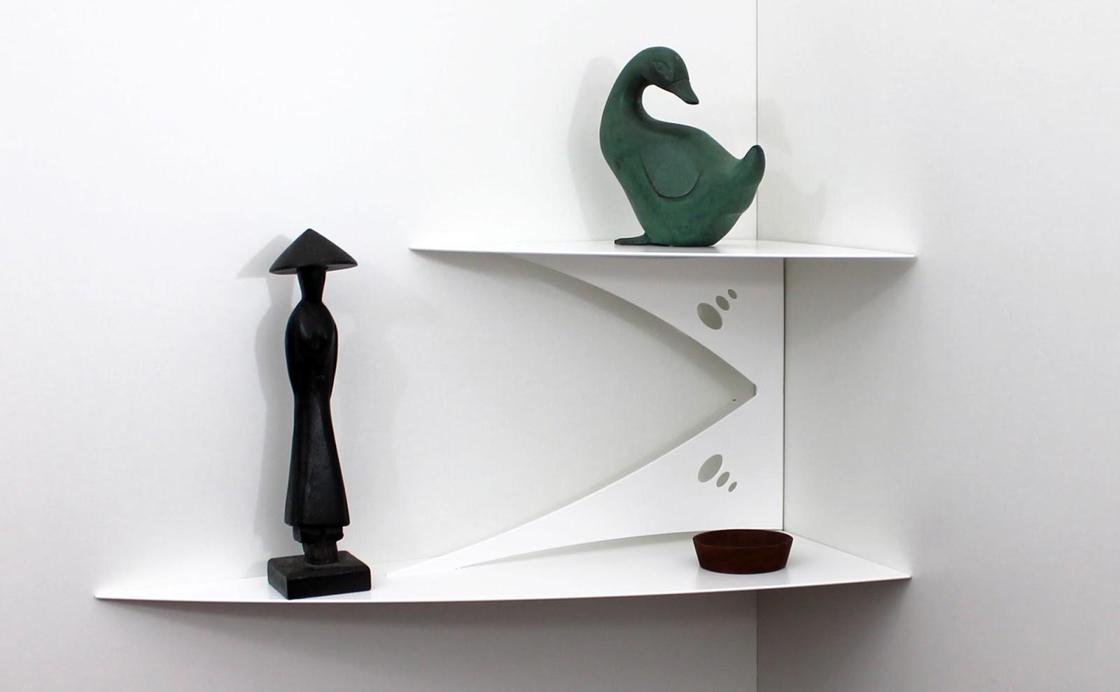 Objectal objets design pour d coration d 39 int rieur - Tablette murale d angle ...