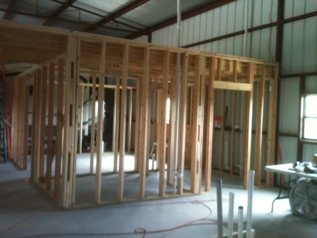 Barndominium Interior Framing