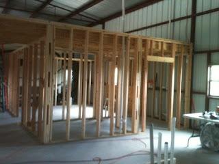 Barndominium Interior Framing
