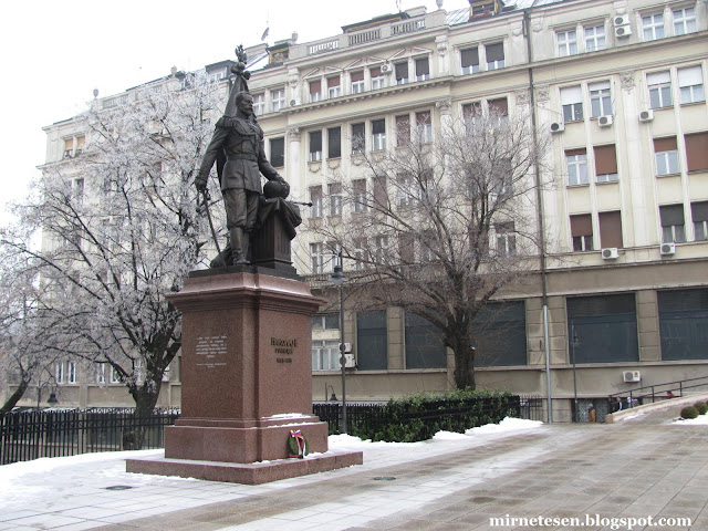 Белград - памятник Николаю II
