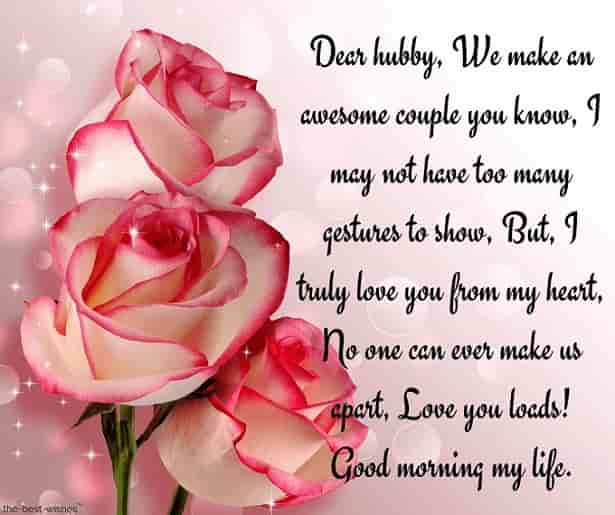 emotional good morning msg for husband