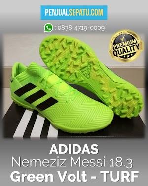 Futsal Adidas Nemeziz Messi 18.3 Green Volt - TURF