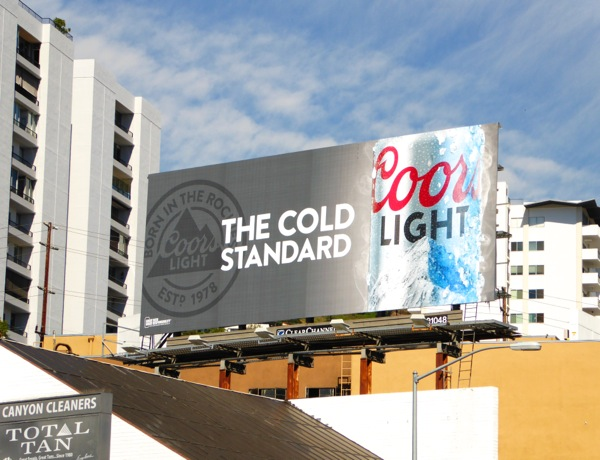 Coors Light cold standard billboard
