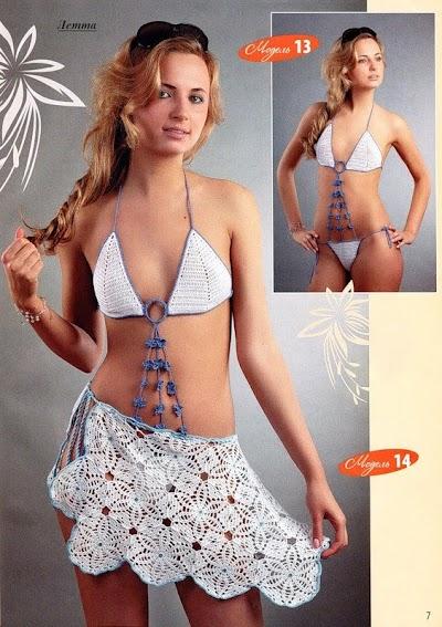 Bikini y Pareo de Crochet Patron