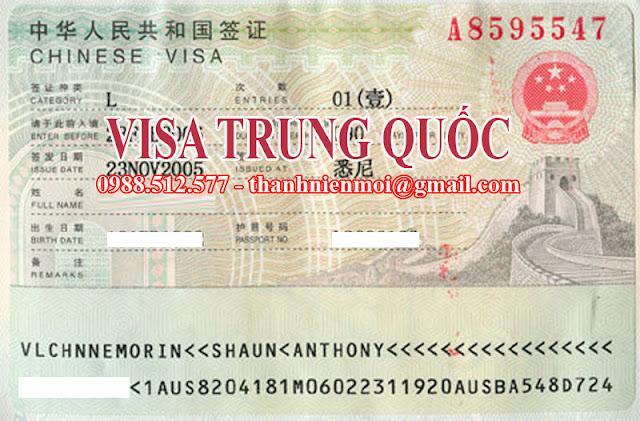 Dịch vụ làm visa Trung Quốc, xin visa đi Trung Quốc tại TPHCM