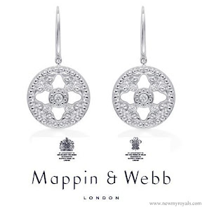 Kate Middleton jewels Mappin and Webb Empress Drop Earrings