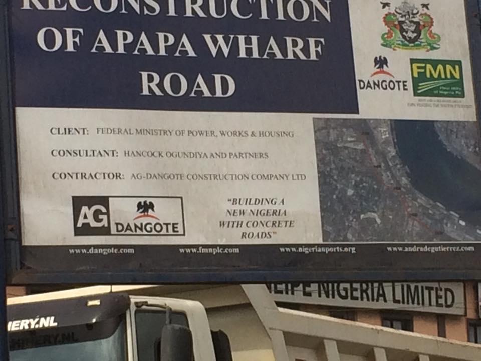 Update of Dangote's Road Construction At Apapa (Photos)