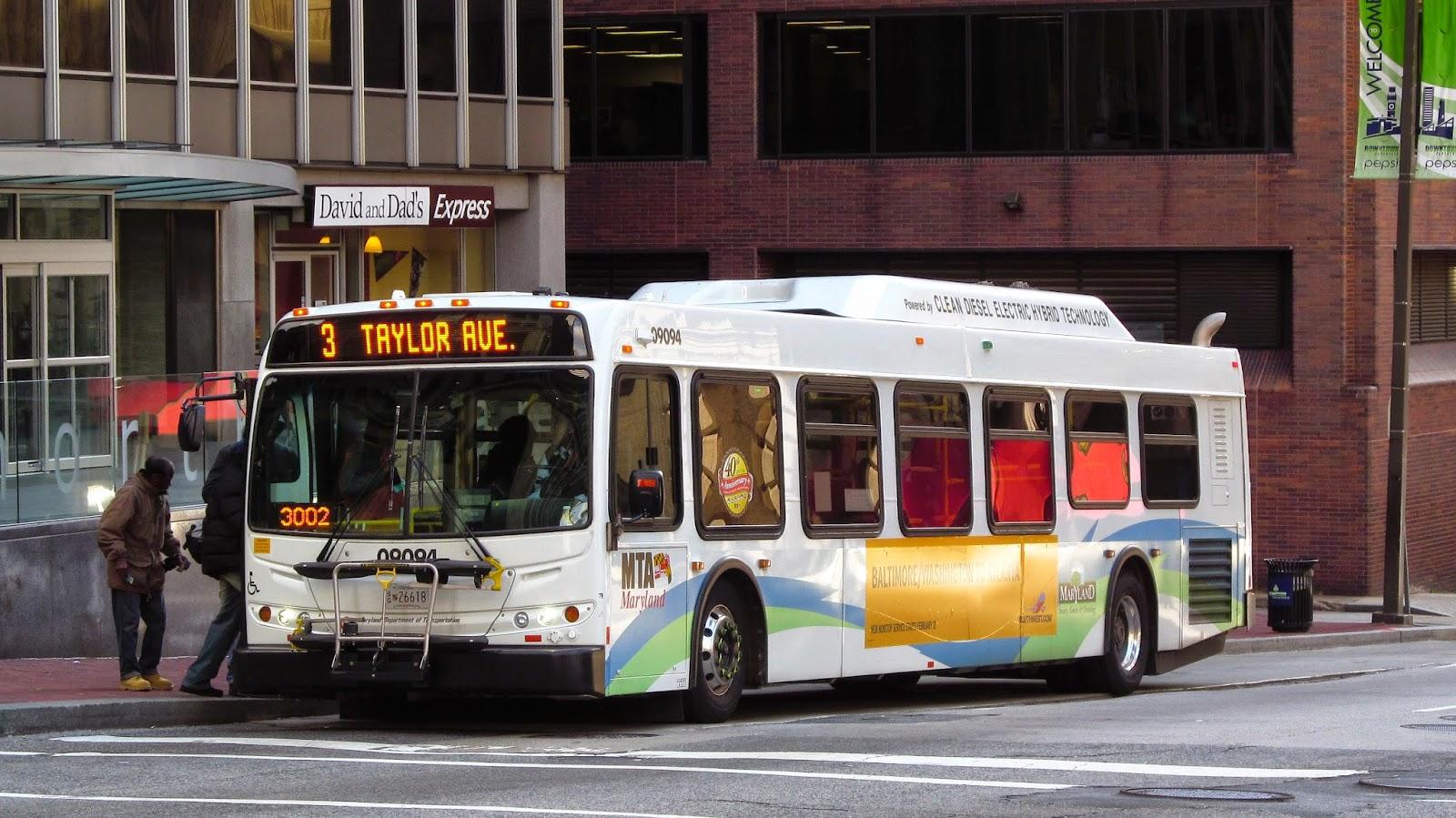 Bus stop on Charles Street, Baltimore