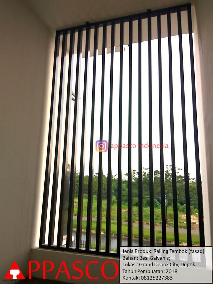 Railing Tembok untuk Ventilasi Udara (Fasad) di Grand Depok City