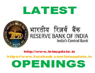 Recruitment of more than 600 posts in Reserve Bank of India., Rbi recruitment,letsupdate, jobs in rbi, assistant jobs in rbi