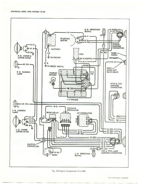 1964 Chevy Truck Color Wiring Diagram Respiratory System With Labels 1965 C10 - Wip: Diagrams