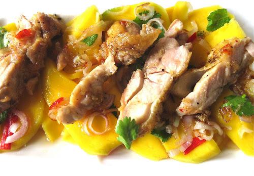 Tanja's Kleverige Kip met frisse mangosalade