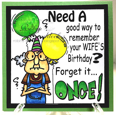 Funny Gus forget it once birthday Digi Stamp.www.bugaboostamps.com