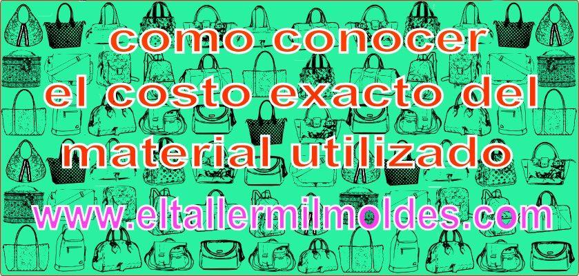 COMO CONOCER EL COSTO EXACTO DEL MATERIAL