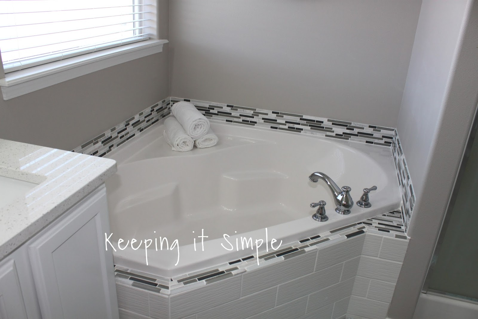 Master Bathroom Makeover with Gray and White Color Scheme • Keeping on