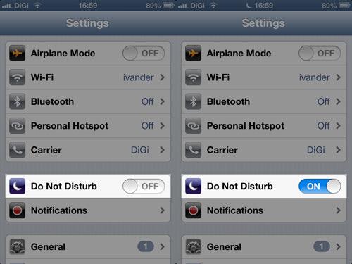 Comment configurer l'iPhone en mode silencieux, sauf pour le groupe sélectionné