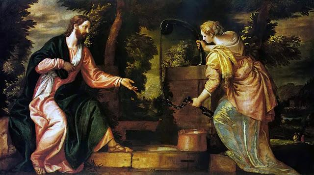Resultado de imagem para jesus se revela a mulher samaritana