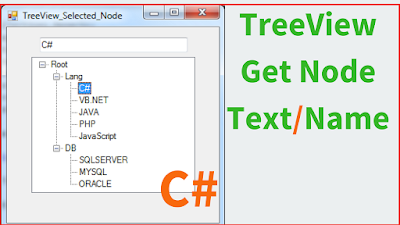 Get TreeView Node Text / Name Using C#
