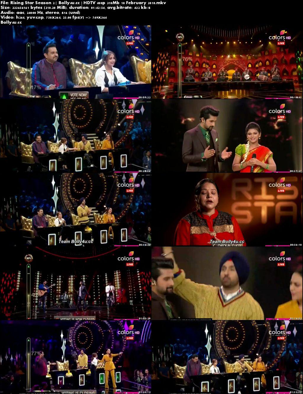 Rising Star Season 2 HDTV 480p 300Mb 18 February 2018 Download