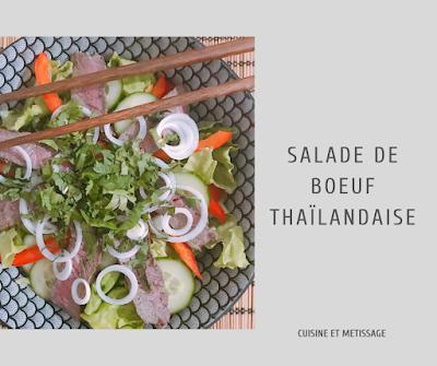 salade boeuf thaïlandaise