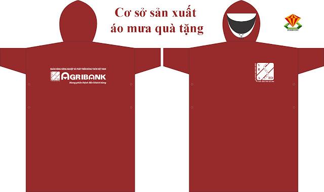 Cơ sở sản xuất áo mưa cánh dơi cho chi nhánh ngân hàng