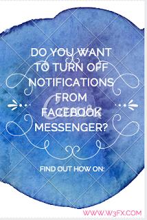 Turn off Facebook Messenger Notifications