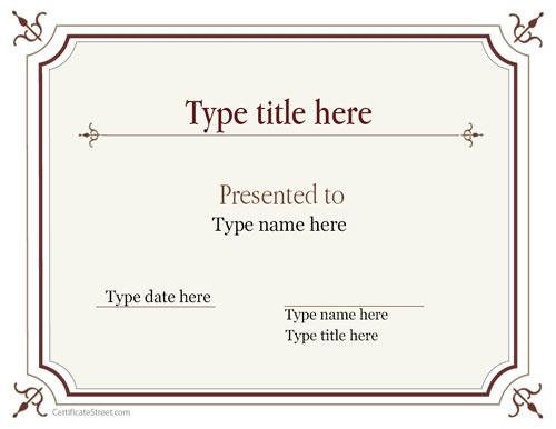 enrhedando manualidades - certificado de reconocimiento para imprimir