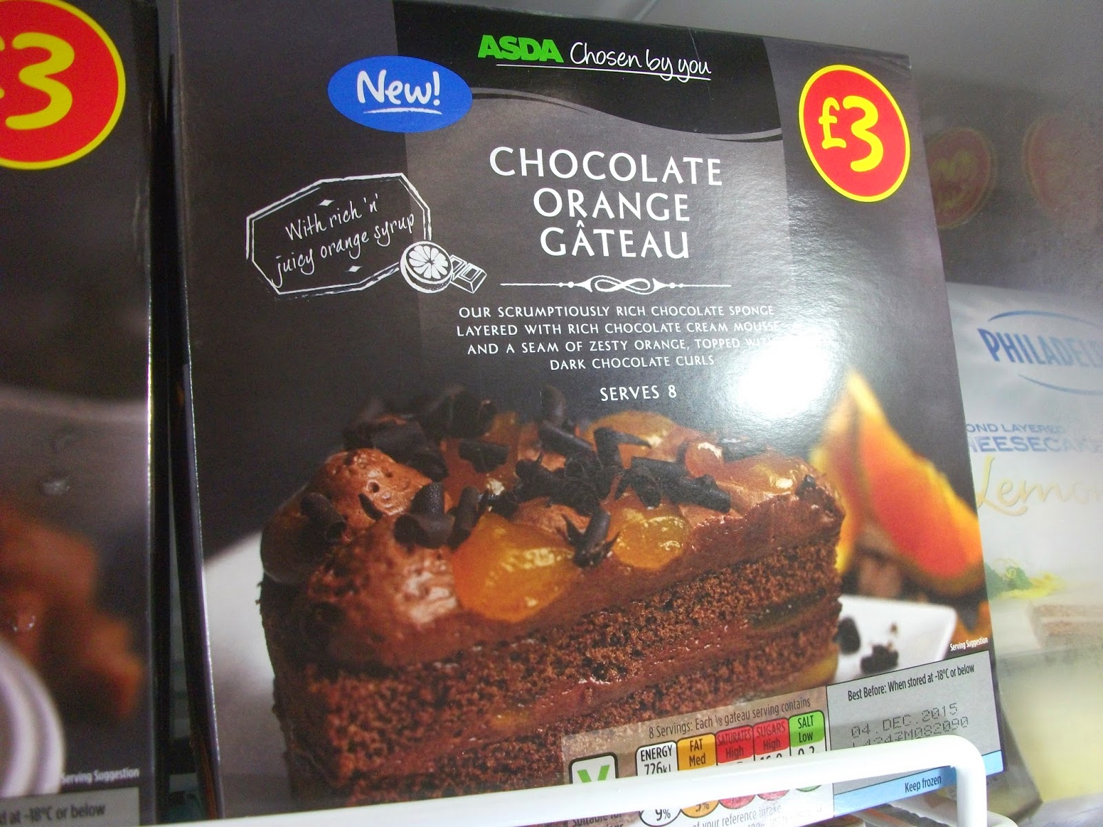 New At Asda Dessert Hybrids Cheesecakes Gateaus Pies