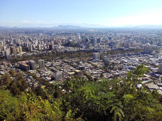 Vistas desde Cerro San Cristobal, Santiago, Chile