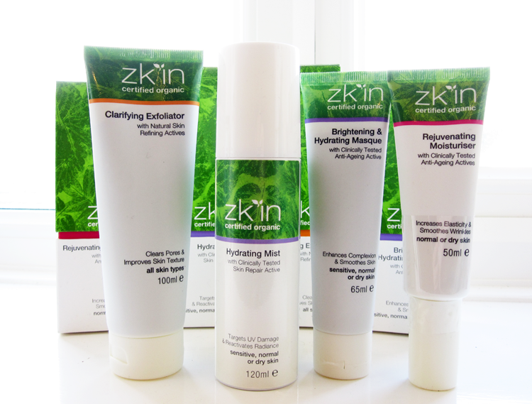 Zk'in Clarifying Exfoliator, Hydrating Mist, Brightening & Hydrating Masque and Rejuvenating Moisturiser review
