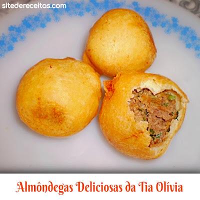 Almôndegas Deliciosas da Tia Olívia