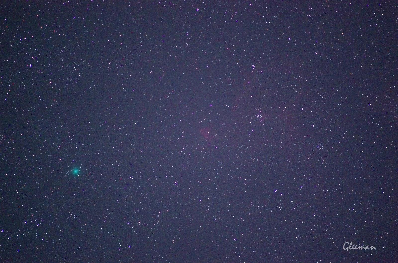 Comet Jacques & Heart nebula, Pentax K5 /O-GPS1/DA*200/ LPS-P2 filter ISO5000 F2.8 40sec