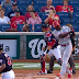 Aristides Aquino foul ball scares Nationals fan into spilling beer