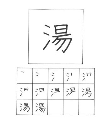 kanji air panas