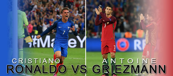 Euro 2016 : Cristiano Ronaldo Vs Antoine Griezmann