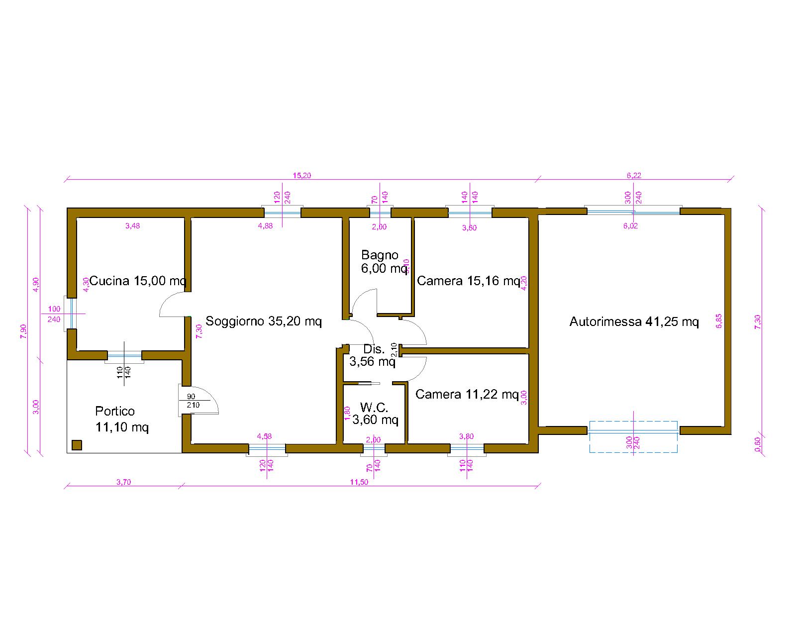 Progetti di case in legno casa 109 mq autorimessa 41 mq for Case in legno 150 mq