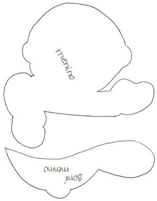 Guirnalda para bebito molde