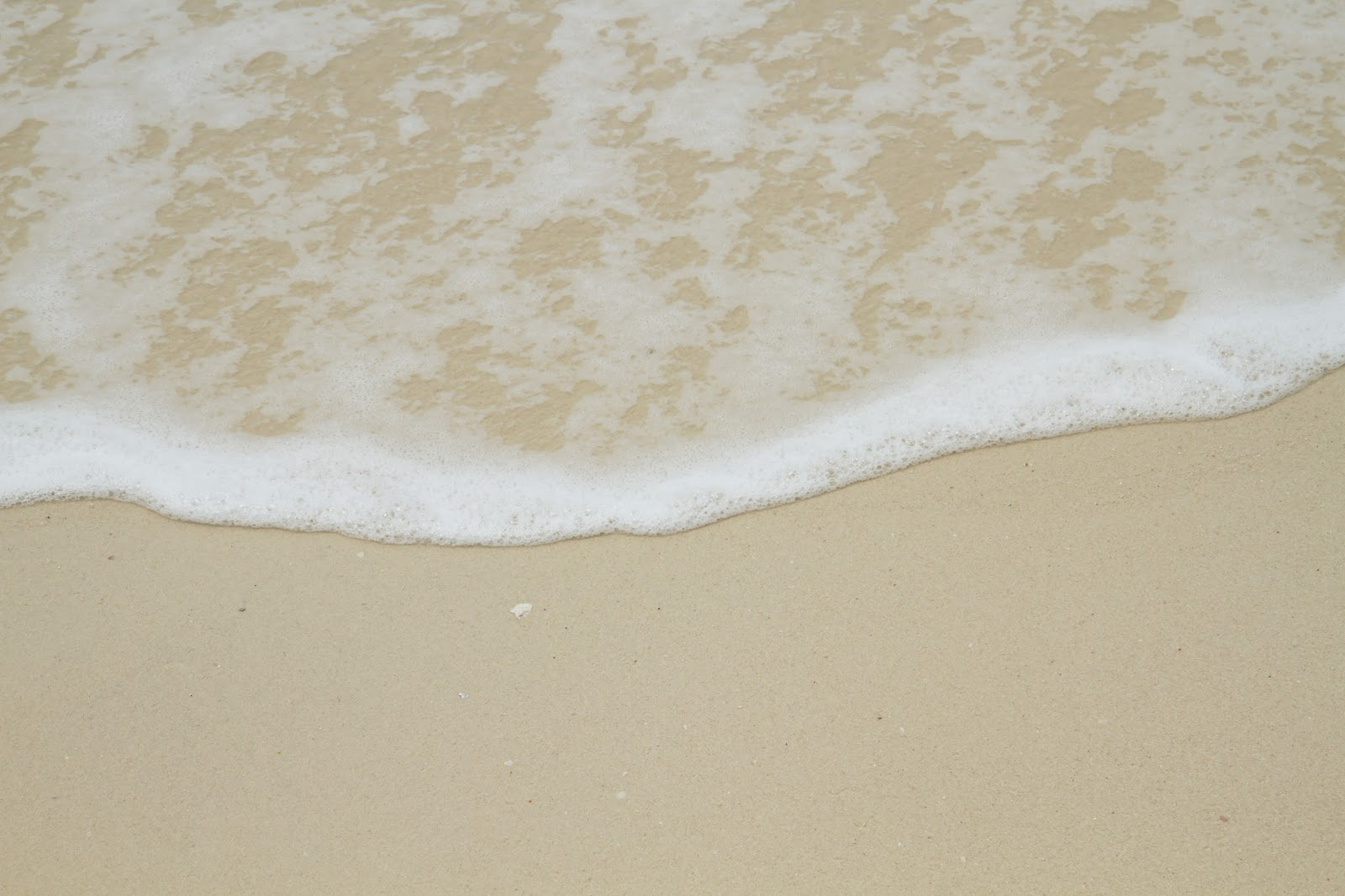 white sand on belitung island